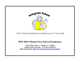 2015-2016 Manual Para Padres/Estudiantes