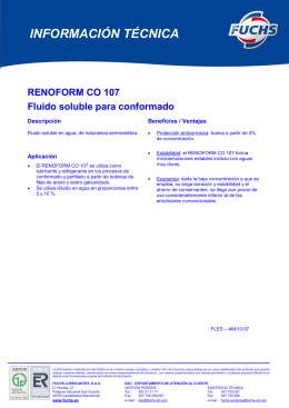 renoform co 107 - Fuchs Lubricantes