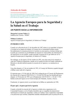La Agencia Europea para la Seguridad y la Salud en el Trabajo (pdf