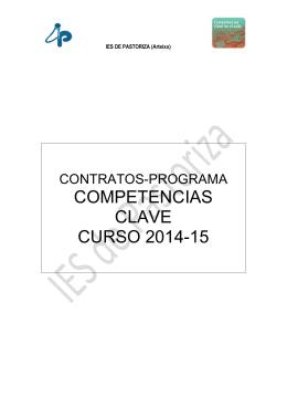 Contratos-Programa. Actividades Competencias Clave.