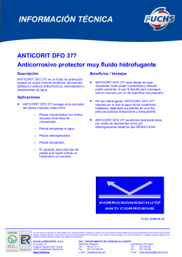anticorit dfo 377 - Fuchs Lubricantes