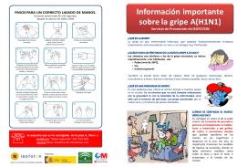 Información importante sobre la gripe A(H1N1)