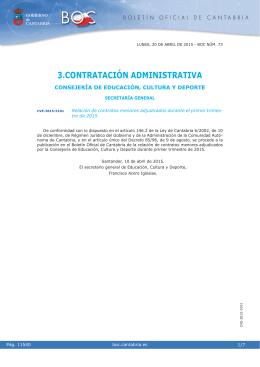 Relación de contratos menores adjudicados durante el primer