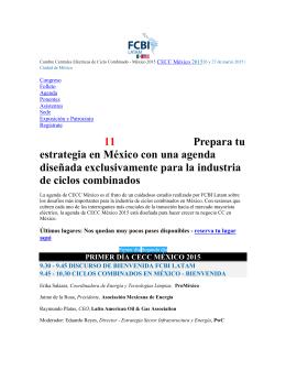Agenda | CECC México 2015 | FCBI Latam