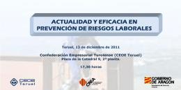 Folleto - Actualidad y eficacia en prevención de riesgos laborales