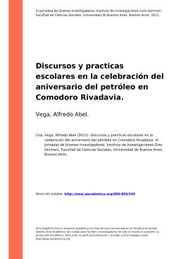 Discursos y practicas escolares en la celebración