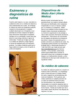 Exámenes y diagnósticos de rutina