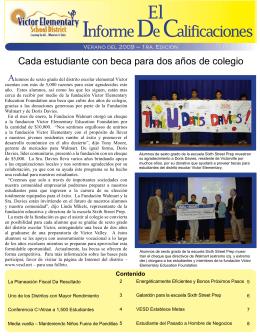 Informe De Calificaciones - Victor Elementary School District