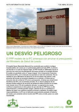 Un desvío peligroso - Oxfam International