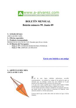 BOLETÍN MENSUAL Boletín número 99. Junio 09
