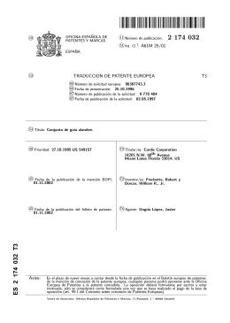 CONJUNTO DE GUIA ALAMBRE.(ES2174032)