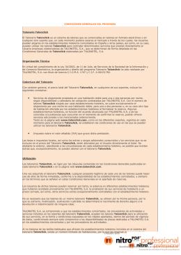 CONDICIONES GENERALES DEL PROGRAMA