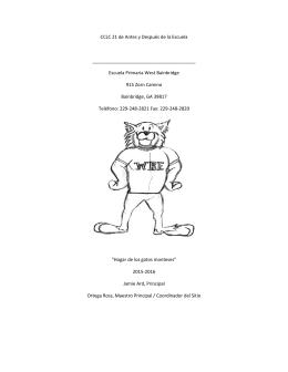 CCLC 21 de Antes y Después de la Escuela Escuela Primaria West