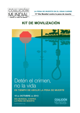 KIT DE MOVILIZACIÓN - World Coalition Against the Death Penalty