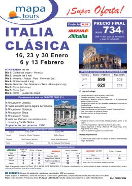 12-01-12 oferta Italia Clasica Enero-Febrero desde