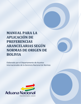Normas de Origen - Aduana Nacional
