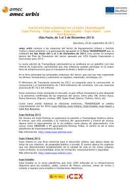 Convocatoria TRANSPOQUIP 2013 PDF - 196KB