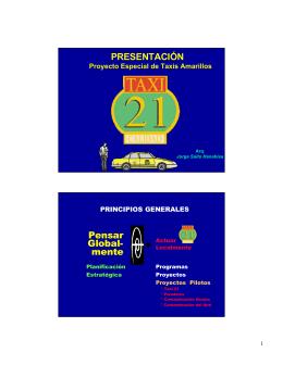 Proyecto especial de taxis amarillos