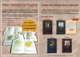 Atlas histórico de España Orden de entrega de la colección