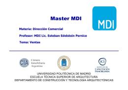 Master MDI