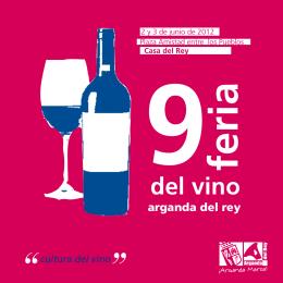 cultura del vino - Ayuntamiento de Arganda