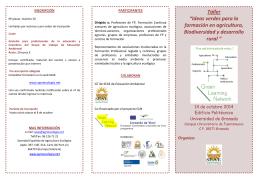 """Taller """"Ideas verdes para la formación en agricultura, Biodiversidad"""