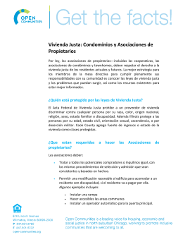 Vivienda Justa - Open Communities