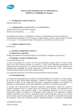 INFORMACIÓN DEL PRODUCTO DE MEZCLAS CON MORFINA