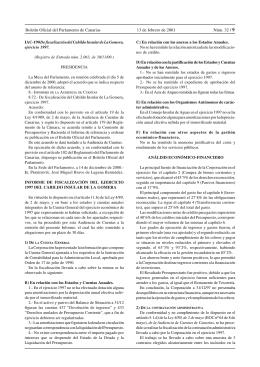 Boletín Oficial del Parlamento de Canarias 13 de febrero de 2001