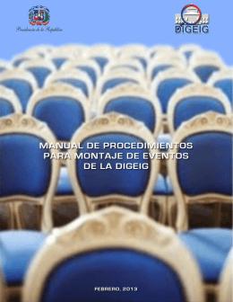 Manual de Procedimientos para Montaje de Eventos de la DIGEIG