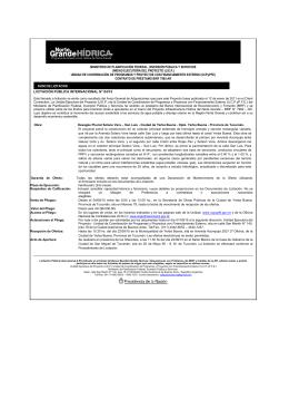 ministerio de planificación federal, inversión pública y