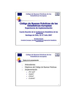 Código de Buenas Prácticas de las Estadísticas Europeas