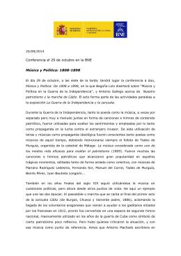 Conferencia Música y Política: 1808-1898
