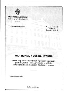cÁH¡mt DE sENAoon¡s MARIHUANA Y S.US DERIVADO$ :