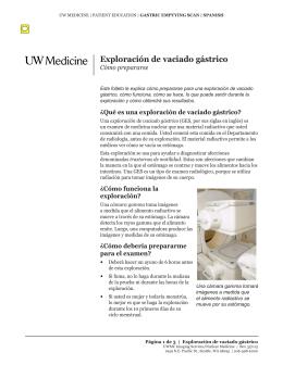 Exploración de vaciado gástrico - UWMC Health On-Line