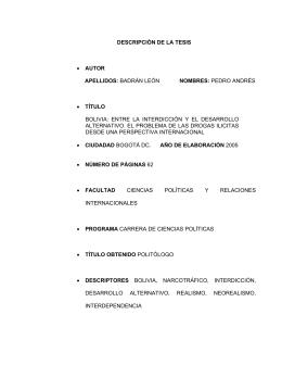 DESCRIPCIN DE LA TESIS - Pontificia Universidad Javeriana