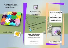 Psicoterapia y orientación educativa Contacta con nosotros