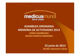 Gastos 2012 - Medicus Mundi
