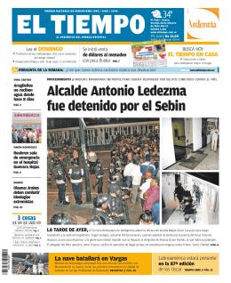 Alcalde Antonio Ledezma fue detenido por el Sebin