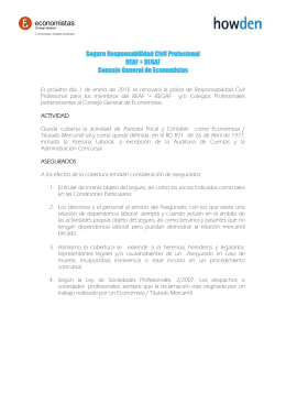 Seguro Responsabilidad Civil Profesional REAF + REGAF Consejo