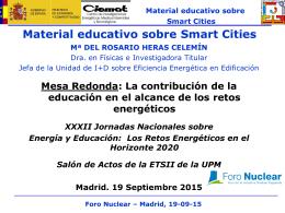 Material educativo sobre Smart Cities