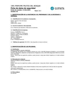 1991-PERFUME FRUTOS DEL BOSQUE Ficha de datos de seguridad