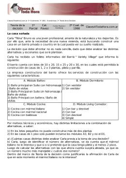 Teoría de la decisión 1º Parcial Cat. Pavesi 2º Cuat. de 1998