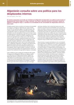 Afganistán consulta sobre una política para los desplazados internos