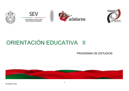 ORIENTACIÓN EDUCATIVA II - Supervisión Escolar Xalapa C