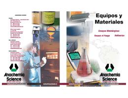 Catálogo español - Anachemia Science