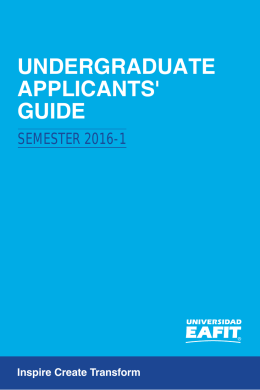 UNDERGRADUATE APPLICANTS` GUIDE