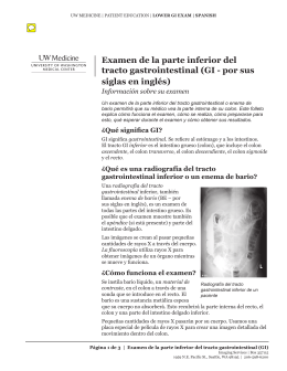 Examen de la parte inferior del tracto gastrointestinal (GI