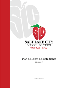 Plan de Logro del Estudiante - Salt Lake City School District