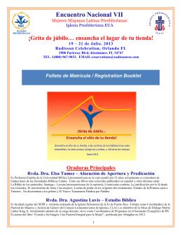 Encuentro Nacional VII - Mujeres Hispanas Latinas Presbiterianas